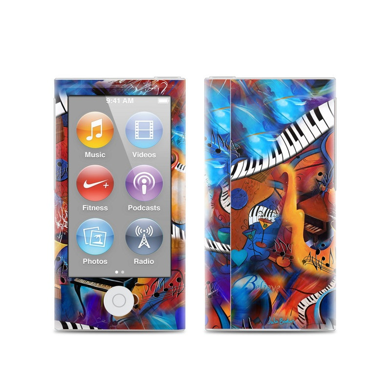 iPod nano 7th Gen Skin design of Art, Graffiti, Mural, Modern art, Street art, Psychedelic art, Fictional character, Graphic design, Visual arts, Animated cartoon with black, red, blue, gray, green colors