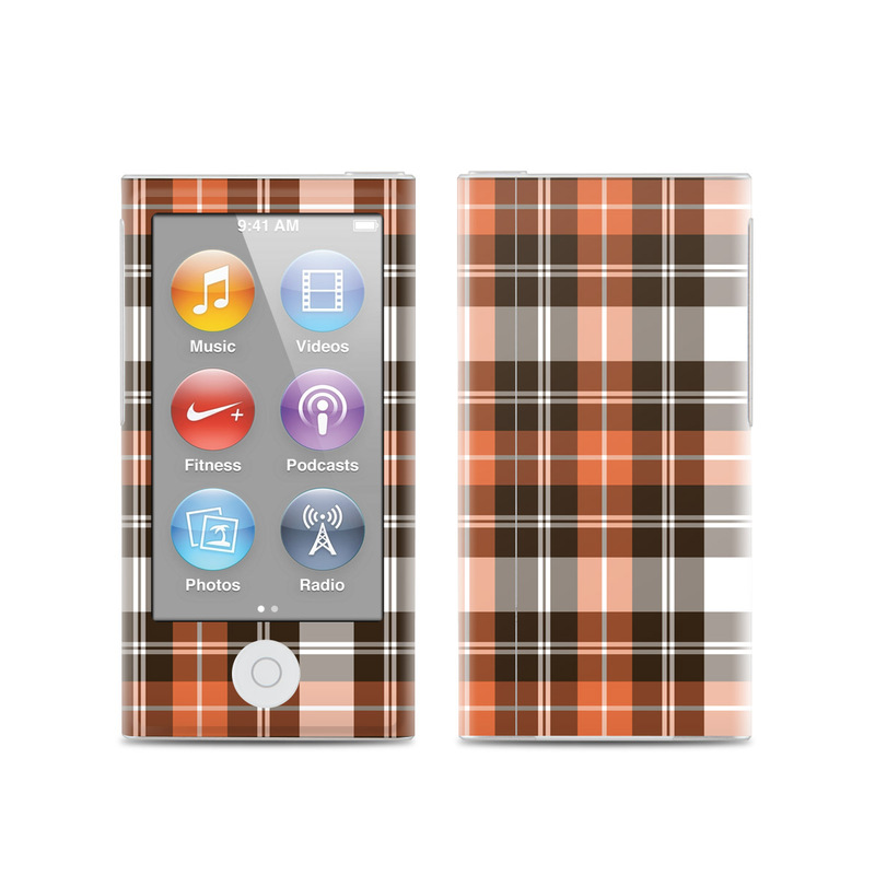 Copper Plaid iPod nano 7th Gen Skin