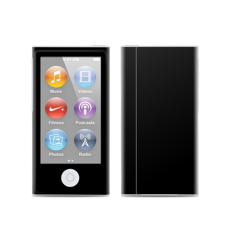 iPod nano 7th Gen Skin design of Black, Darkness, White, Sky, Light, Red, Text, Brown, Font, Atmosphere with black colors