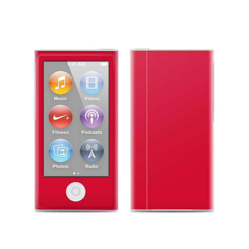Solid State Red iPod nano 7th Gen Skin
