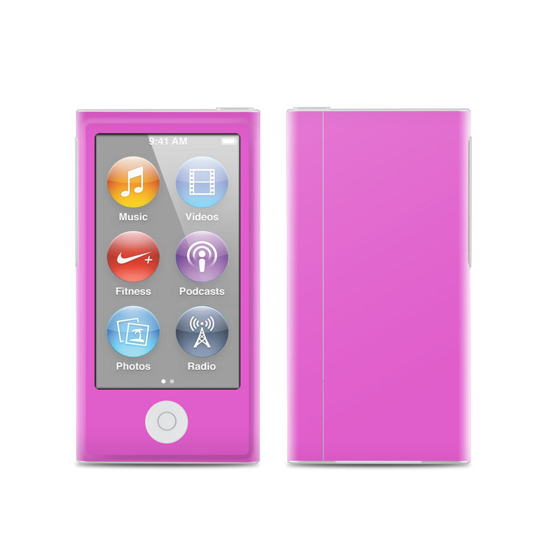 Solid State Vibrant Pink iPod nano 7th Gen Skin