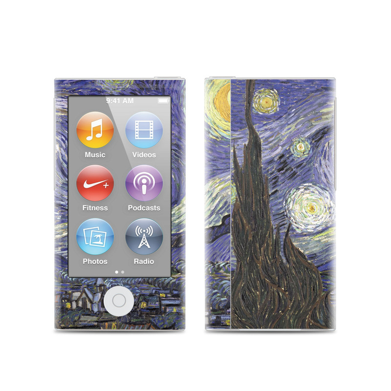 iPod nano 7th Gen Skin design of Painting, Purple, Art, Tree, Illustration, Organism, Watercolor paint, Space, Modern art, Plant with gray, black, blue, green colors