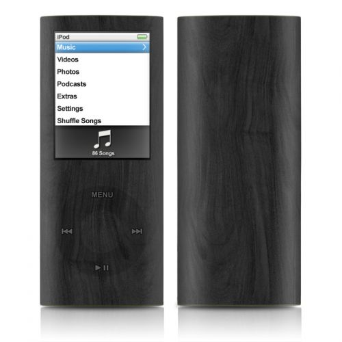 Black Woodgrain iPod nano 4th Gen Skin