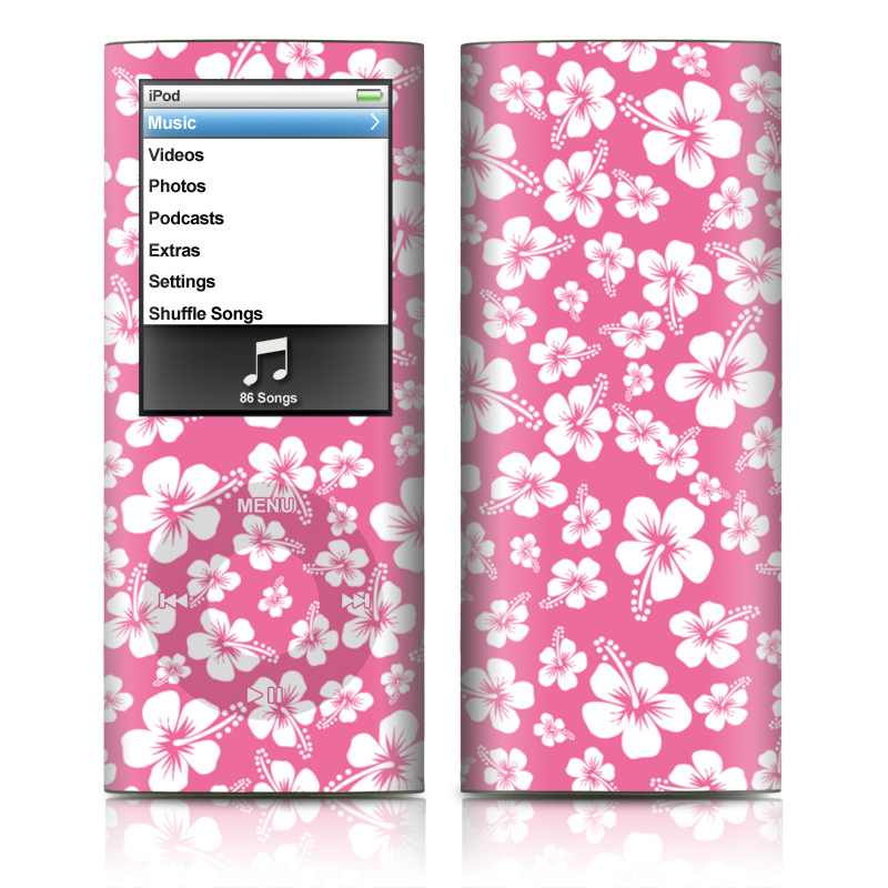 Aloha Pink iPod nano 4th Gen Skin