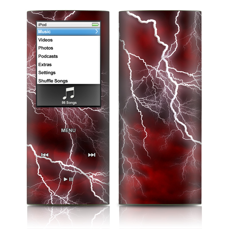 Apocalypse Red iPod nano 4th Gen Skin