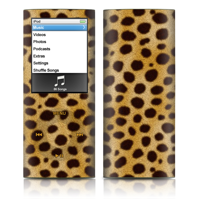 Cheetah iPod nano 4th Gen Skin