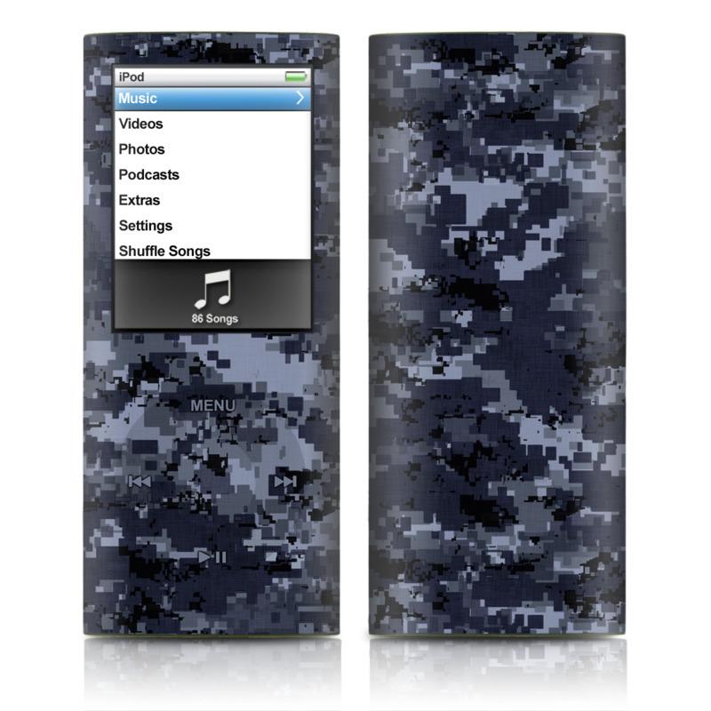Digital Navy Camo iPod nano 4th Gen Skin