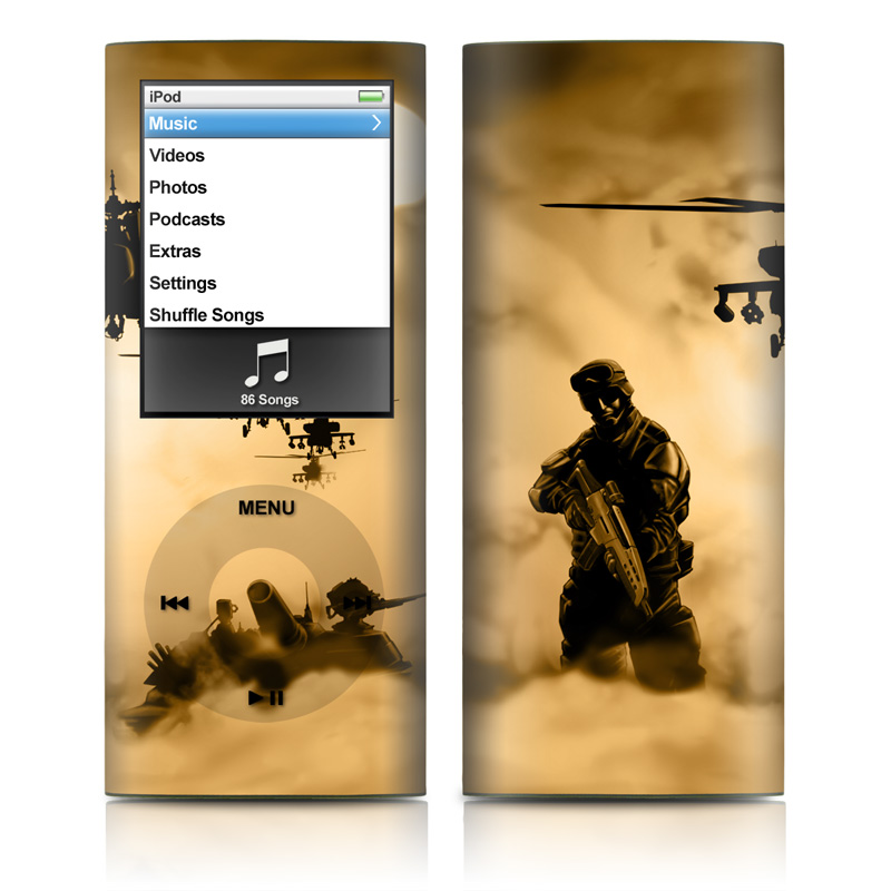 iPod nano 4th Gen Skin design of Soldier, Army men, Military organization, Infantry, Army, Military, Military person, Military uniform, Marines, Military officer with green, black, pink, red, gray, yellow colors