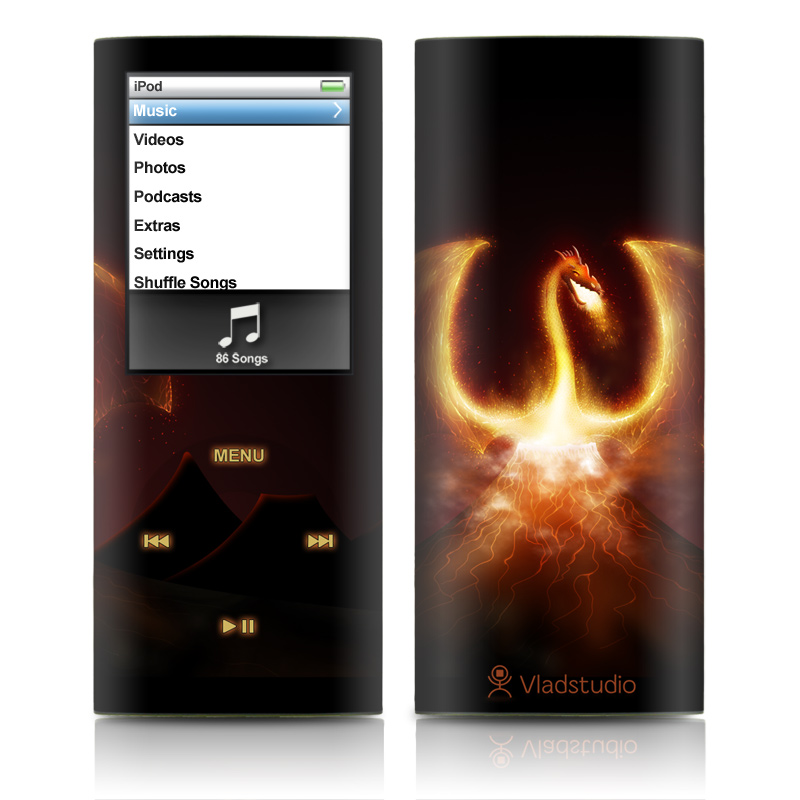 Fire Dragon iPod nano 4th Gen Skin