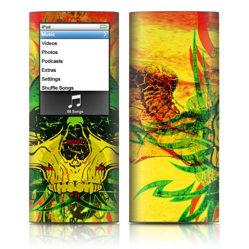 Hot Tribal Skull iPod nano 4th Gen Skin