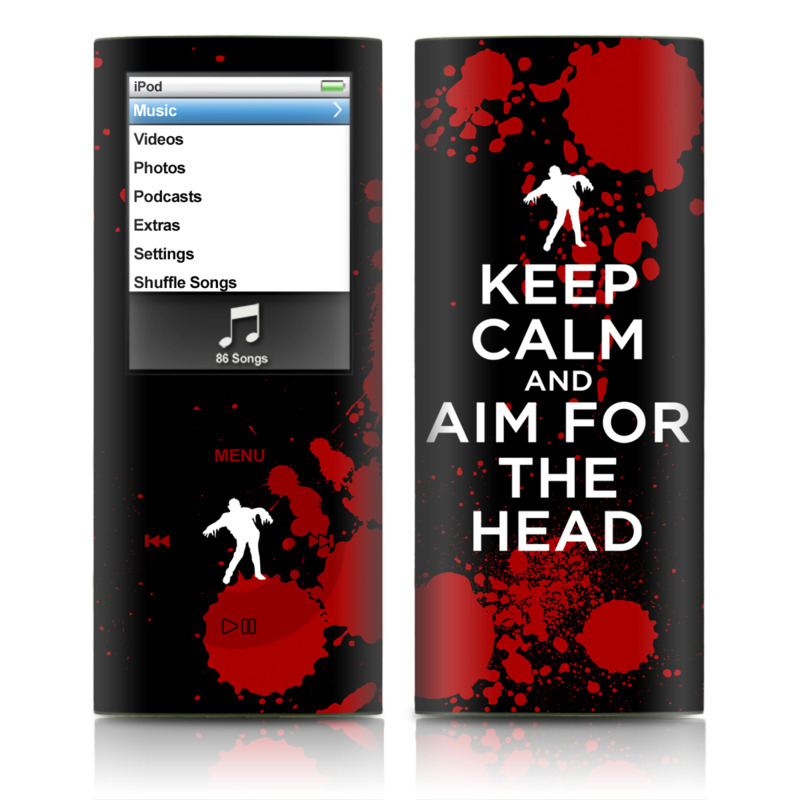 Keep Calm - Zombie iPod nano 4th Gen Skin