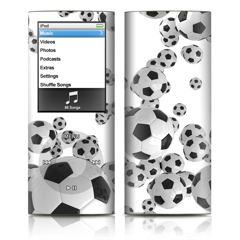 Lots of Soccer Balls iPod nano 4th Gen Skin
