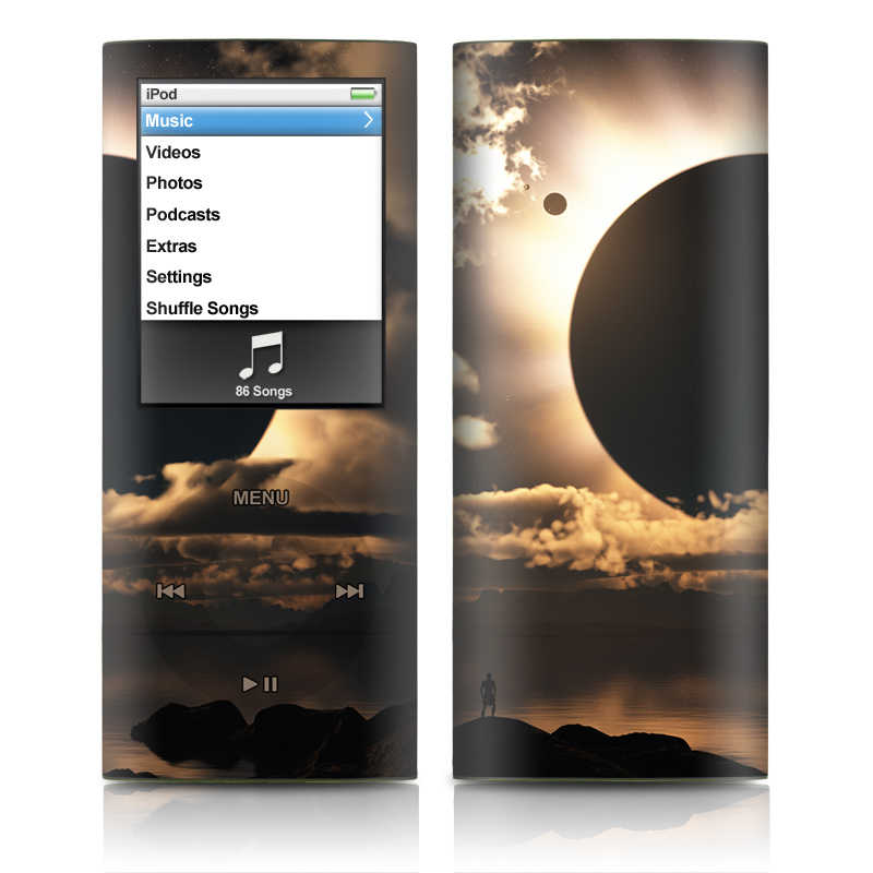 iPod nano 4th Gen Skin design of Sky, Cloud, Daytime, Eclipse, Atmosphere, Cumulus, Sunlight, Sun, Astronomical object, Celestial event with black, red, green, gray, pink, yellow colors