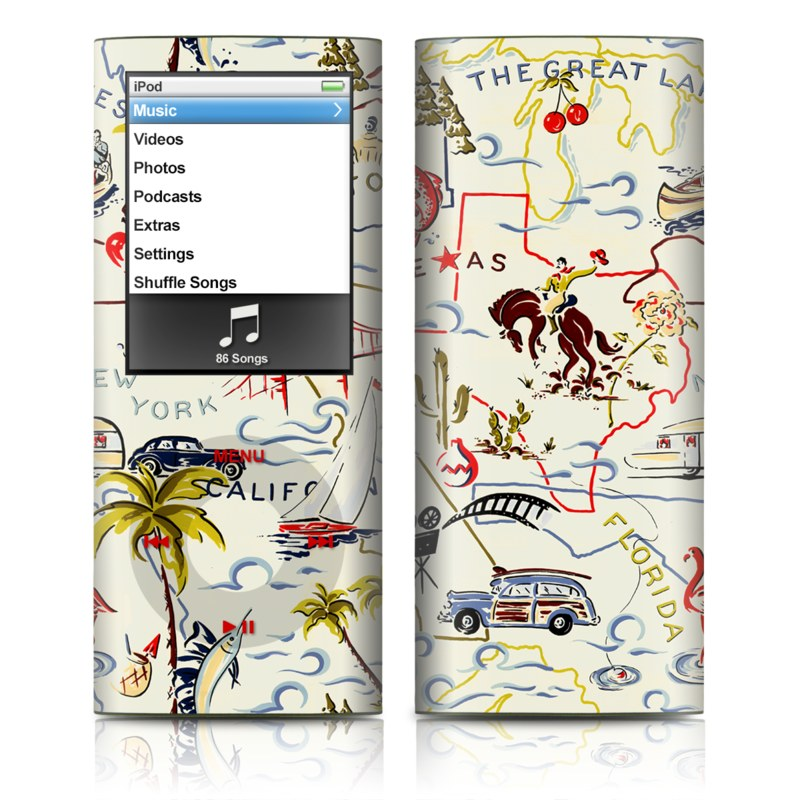 Road Trip iPod nano 4th Gen Skin