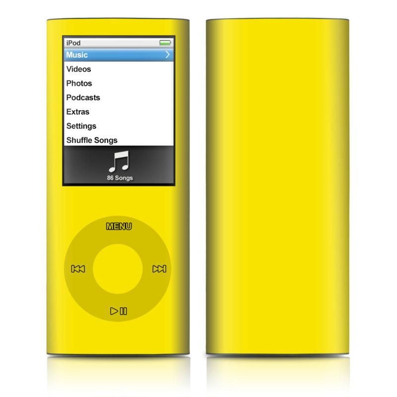 Solid State Yellow iPod nano 4th Gen Skin