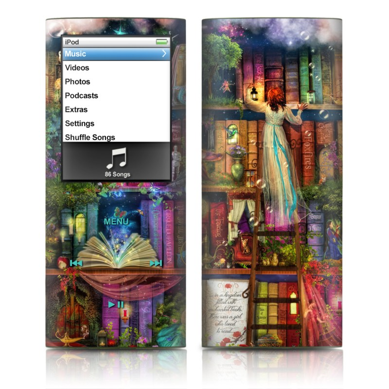 iPod nano 4th Gen Skin design of Painting, Art, Theatrical scenery with black, red, gray, green, blue colors