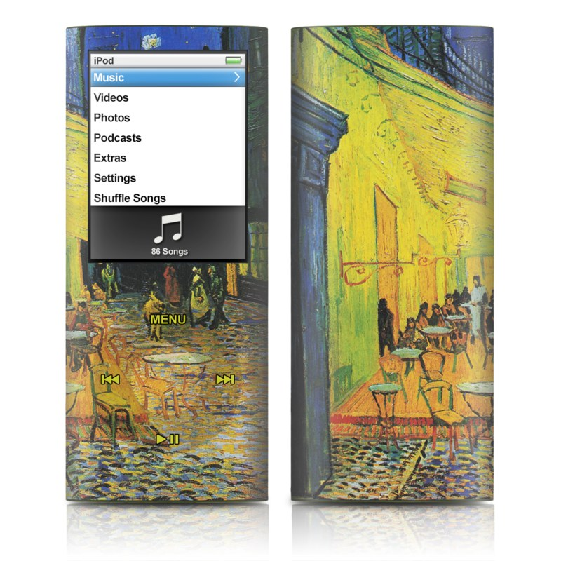Cafe Terrace At Night iPod nano 4th Gen Skin