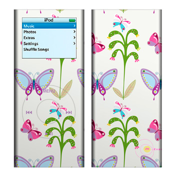 Butterfly Field iPod nano 2nd Gen Skin