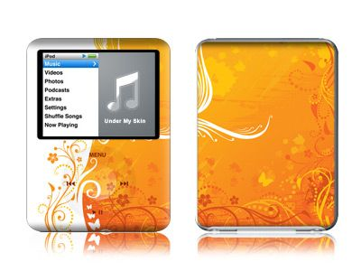 Orange Crush iPod nano 3rd Gen Skin
