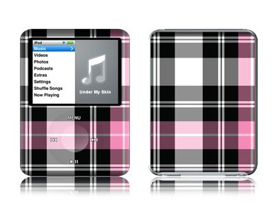 Pink Plaid iPod nano 3rd Gen Skin