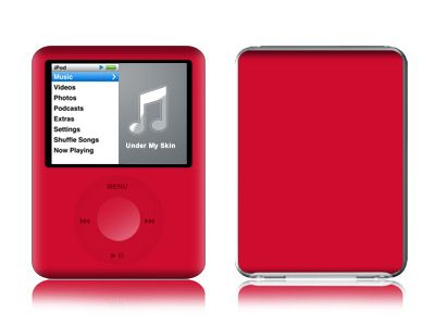 Solid State Red iPod nano 3rd Gen Skin