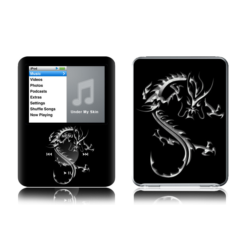 Chrome Dragon iPod nano 3rd Gen Skin