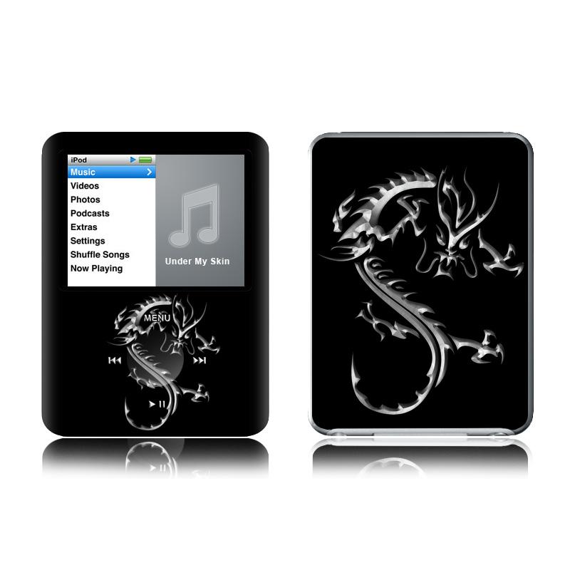 Chrome Dragon iPod nano 3rd Gen Skin