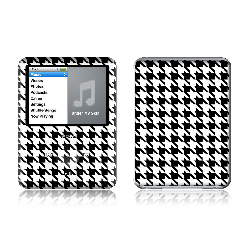 iPod nano 3rd Gen Skin design of Pattern, Black-and-white, Line, Monochrome, Design, Monochrome photography, Textile, Parallel, Style with black, white, gray colors
