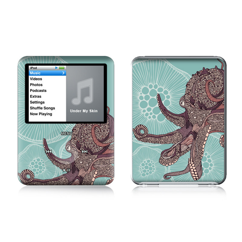 Octopus Bloom iPod nano 3rd Gen Skin