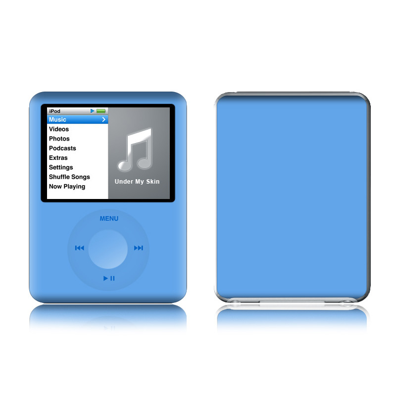 Solid State Blue iPod nano 3rd Gen Skin