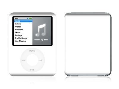 Solid State White iPod nano 3rd Gen Skin