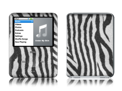 iPod nano 3rd Gen Skin design of Pattern, Line, Design, Monochrome, Black-and-white, Wildlife, Parallel with black, white, gray colors