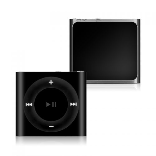 Solid State Black iPod shuffle 4th Gen Skin