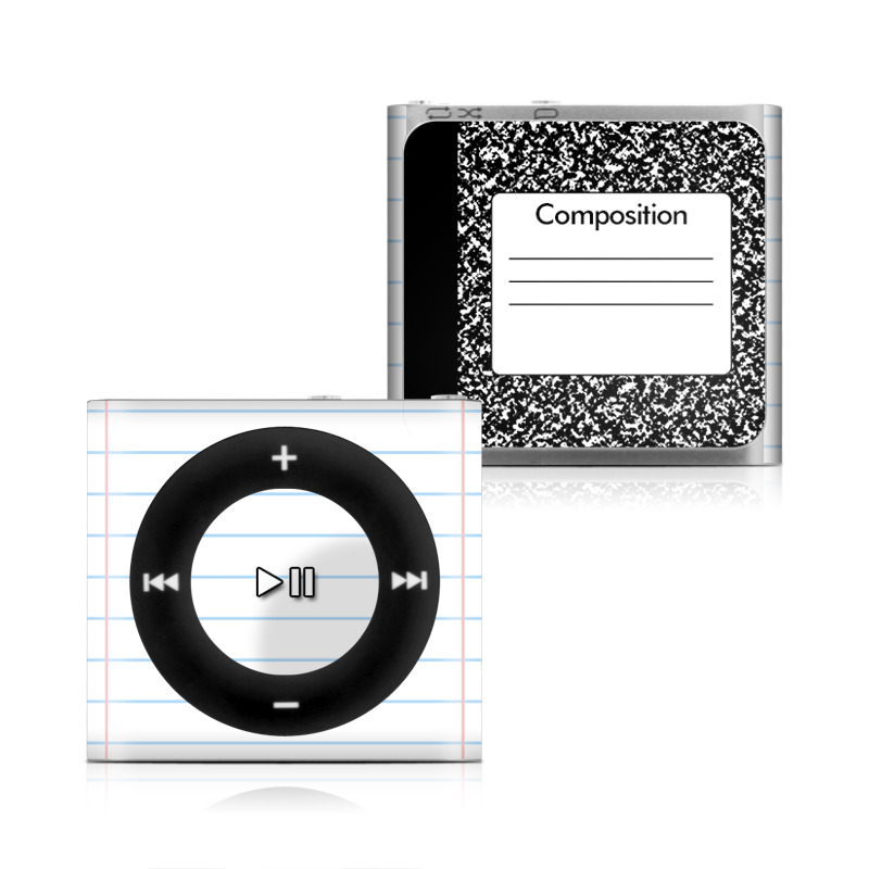 iPod shuffle 4th Gen Skin design of Text, Font, Line, Pattern, Black-and-white, Illustration with black, gray, white colors
