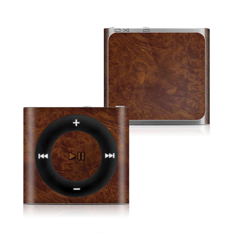 Dark Burlwood iPod shuffle 4th Gen Skin