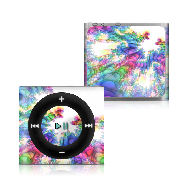 iPod shuffle 4th Gen Skin design of Fractal art, Psychedelic art, Purple, Colorfulness, Art, Graphic design, Pattern, Graphics, Artwork, Symmetry with gray, white, blue, purple, pink colors