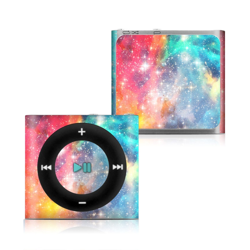 iPod shuffle 4th Gen Skin design of Nebula, Sky, Astronomical object, Outer space, Atmosphere, Universe, Space, Galaxy, Celestial event, Star with white, black, red, orange, yellow, blue colors