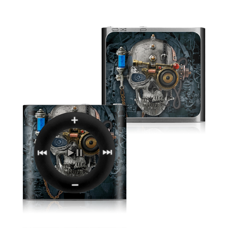 iPod shuffle 4th Gen Skin design of Engine, Auto part, Still life photography, Personal protective equipment, Illustration, Automotive engine part, Art with black, gray, red, green colors