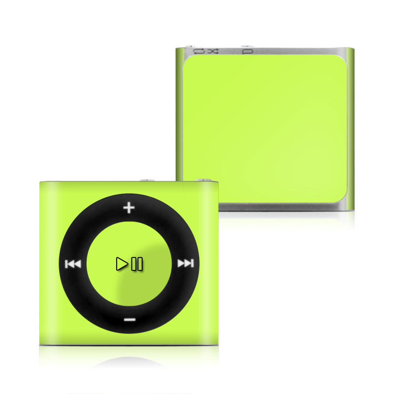 Solid State Lime iPod shuffle 4th Gen Skin