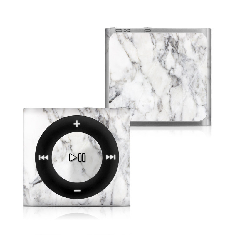 iPod shuffle 4th Gen Skin design of White, Geological phenomenon, Marble, Black-and-white, Freezing with white, black, gray colors