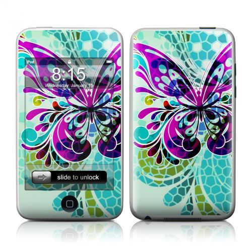 Butterfly Glass iPod touch Skin