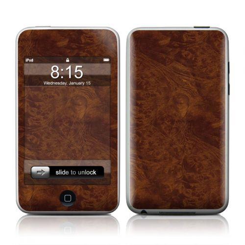 Dark Burlwood iPod touch Skin