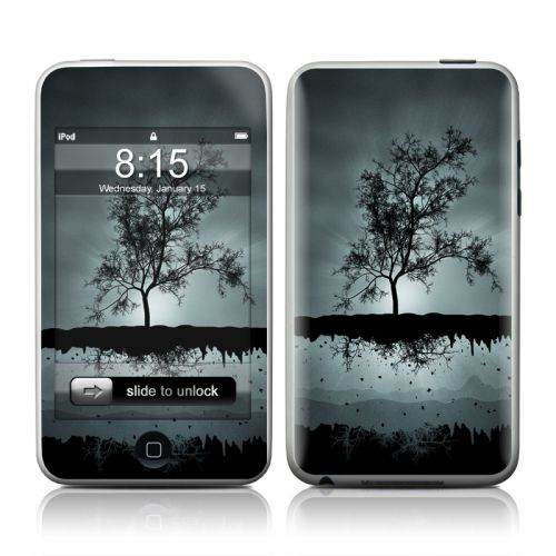 Flying Tree Black iPod touch Skin