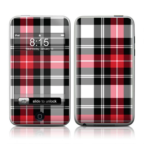 Red Plaid iPod touch Skin