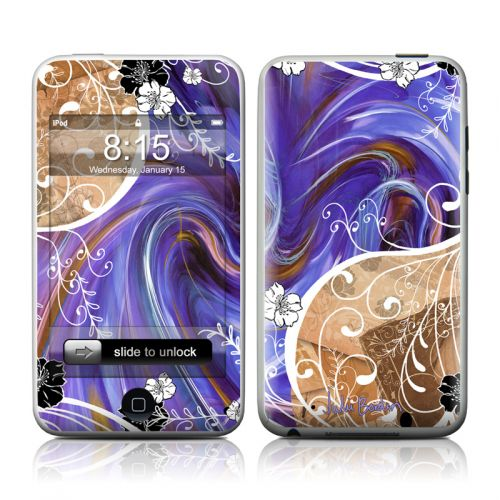 Purple Waves iPod touch Skin