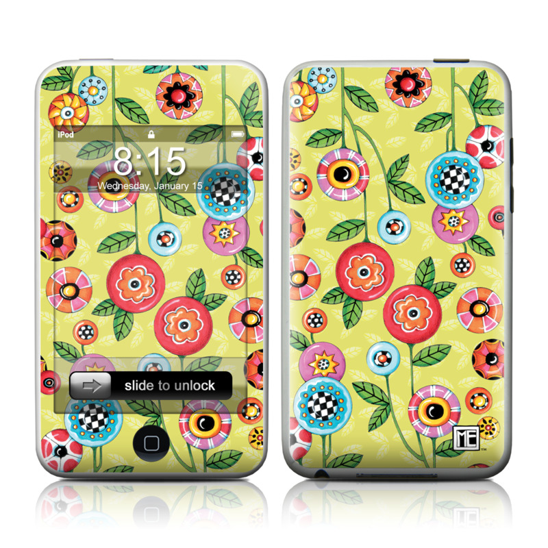 Button Flowers iPod touch Skin