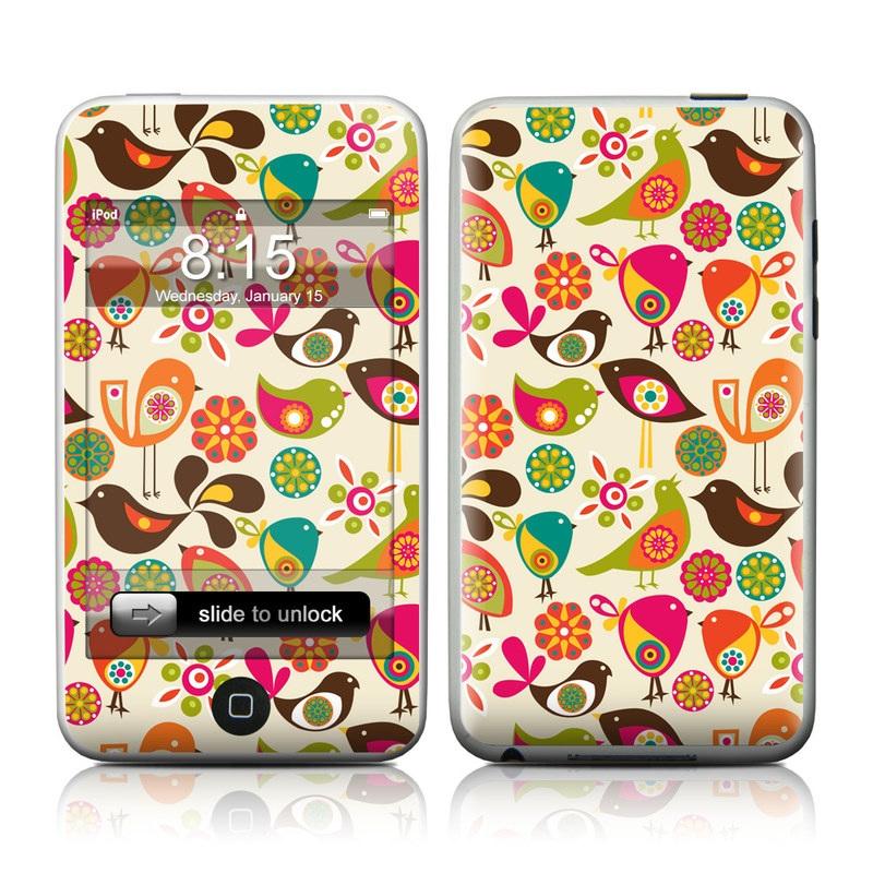 Bird Flowers iPod touch Skin