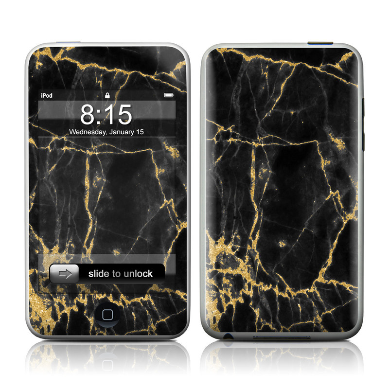Black Gold Marble iPod touch Skin