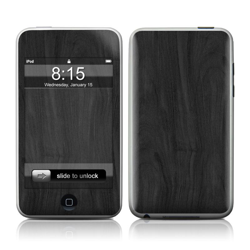 Black Woodgrain iPod touch Skin