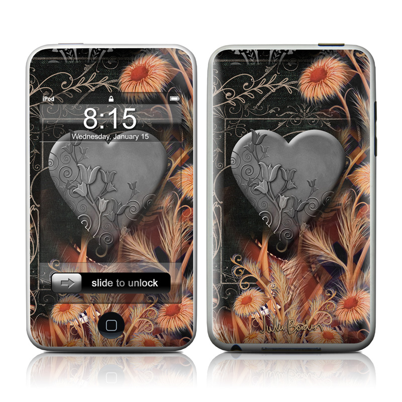 Black Lace Flower iPod touch Skin